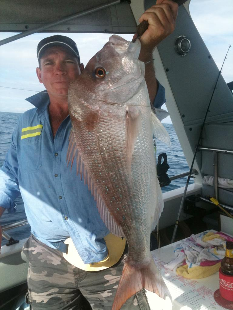 Dan Cremer caught his quality Snapper on a reef east of Boyne Island near Gladstone
