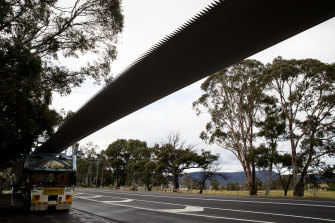A blade for a new wind turbine heading for inland NSW. The state is now topping an investor confidence survey.