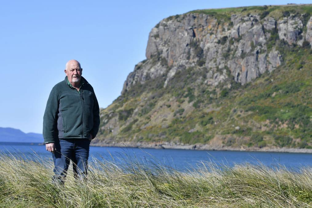 HARD SELL: Stanley Chamber of Commerce chair Bernard Atkins said the community was divided about the proposed wind farms. Picture: Brodie Weeding