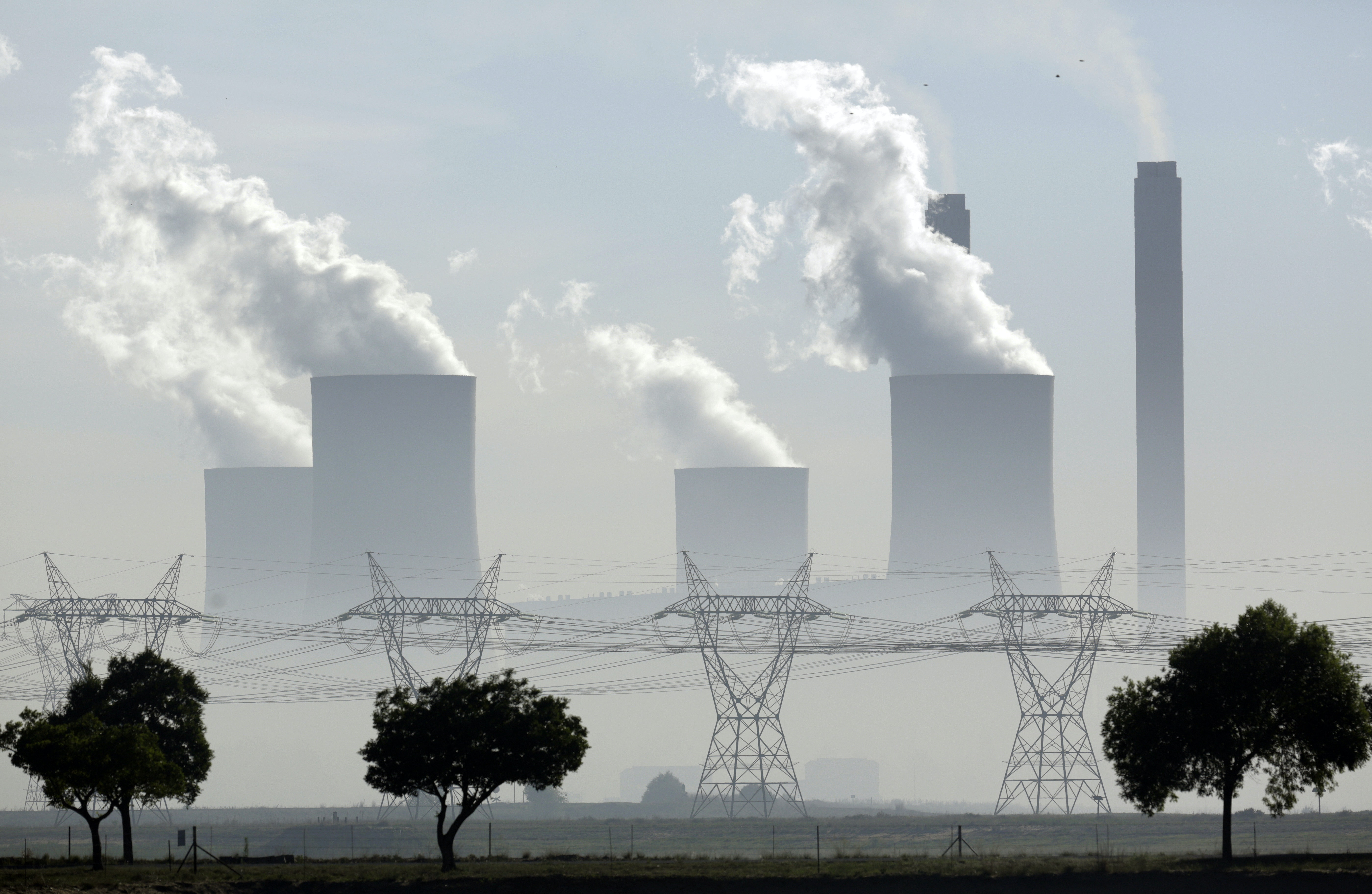 Steam billows from a coal-fired power station