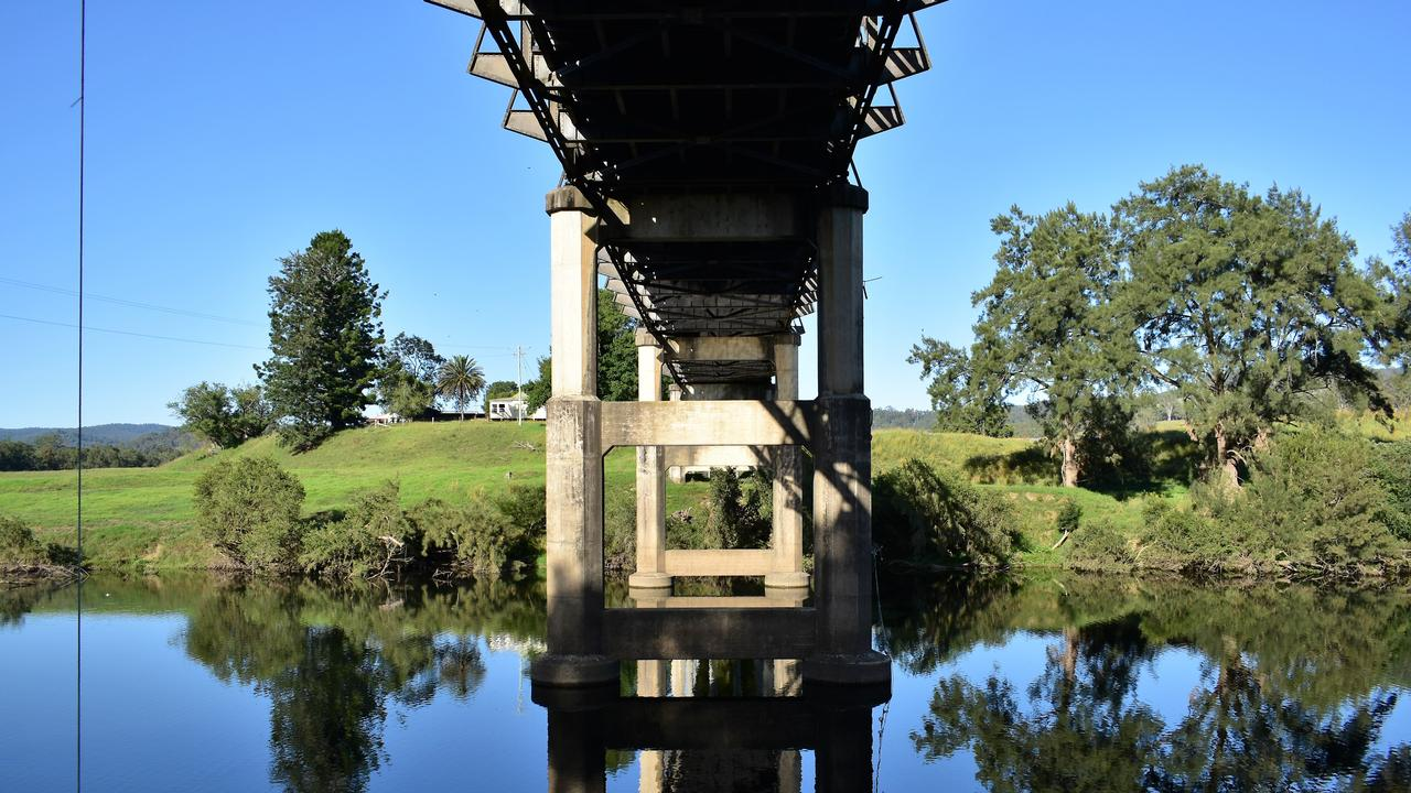 A bridge spans the Nymboida river, key to the Coffs Harbour and Clarence Valley water supplies.